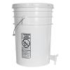 White 6 Gallon Tamco® Fermentation Bucket with Spigot & Lid
