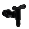 """3/4"""" Black Long Thread Water Butt Tap with Gasket"""