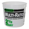 2-1/2 Quart HDPE Multi-Ratio Container (Lid Sold Separately)