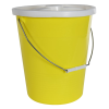 14 Quart Yellow LDPE Pail with Handle & Lid