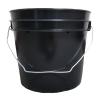 1 Gallon Economy Black Round Bucket with Wire Bail
