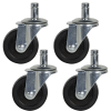Heavy Duty Caster Wheels for Foot In-No Spin Buckets