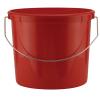 Leaktite® 5 Qt. Heavy Duty Plastic Grid Reinforced HDPE Red Pail