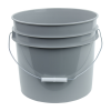 Gray 3.5 Gallon HDPE Bucket
