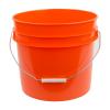 Orange 3.5 Gallon HDPE Bucket