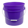 Purple 3.5 Gallon HDPE Bucket