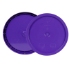 Purple 3.5 to 5.25 Gallon HDPE Lid with Tear Tab