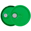 Green 3.5 to 5.25 Gallon HDPE Lid with Pour Spout
