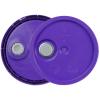Purple 3.5 to 5.25 Gallon HDPE Lid with Pour Spout