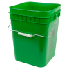 Economy Green 4 Gallon Square Bucket