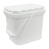 3.5 Gallon White EZ Stor Pail with Handle