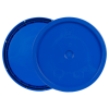 Blue 3.5 to 5.25 Gallon HDPE Lid with Tear Tab