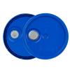 Blue 3.5 to 5.25 Gallon HDPE Lid with Pour Spout