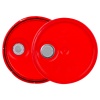 Red 3.5 to 5.25 Gallon HDPE Lid with Pour Spout