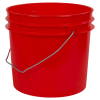 Red 1 Gallon HDPE Bucket