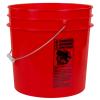 Red 4.25 Gallon HDPE Bucket