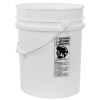 White 5.25 Gallon HDPE Bucket