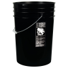 Black 6 Gallon HDPE Buckets