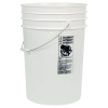 White 6 Gallon HDPE Buckets