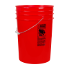 Red 6 Gallon HDPE Bucket
