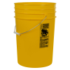 Yellow 6 Gallon HDPE Buckets