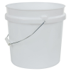 White 2 Gallon HDPE Bucket