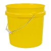 Yellow 2 Gallon HDPE Bucket