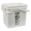 4 Gallon White Life Latch® Square Pail