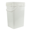 6.5 Gallon White Life Latch® Square Pail