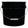 Black 3.5 Gallon HDPE Bucket