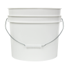 White 3.5 Gallon HDPE Bucket
