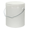 Letica® 1 Gallon White Rim-less HDPE Pail with Handle