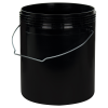Letica® 1 Gallon Black Rim-less HDPE Pail with Handle