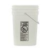Letica® 4-1/4 Gallon Natural HDPE Square Bucket (Lid Sold Separately)