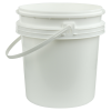 White Polypropylene 2-1/2 Gallon/9.5 Liter Bucket with Handle