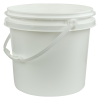 White Polypropylene 3 Gallon/11 Liter Bucket with Handle