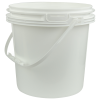 White Polypropylene 3.2 Gallon/12 Liter Bucket with Handle
