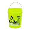 5 Gallon Reflective Fluorescent Yellow Round Bucket