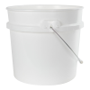 3.5 Gallon White HDPE UN Rated Pail w/ Handle