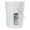 5 Gallon White HDPE UN Rated Pail w/ Handle