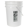 5.5 Gallon White HDPE UN Rated Pail w/ Handle