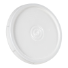 White UN Rated Tear Tab Lid for 3.5 to 5.5 Gallon Pail
