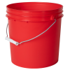 Red 2 Gallon HDPE Bucket