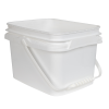 1.3 Gallon/5 Liter InPack Polypropylene Rectangular Pail with Handle