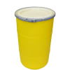 "30 Gallon Yellow Open Head Drum 20.25"" Dia w/Band x 30.25"" H"