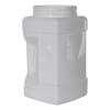 128 oz. (1 Gallon) White PET Pinch Grip-It Jars with 120mm Neck (Cap Sold Separately)