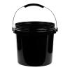 Black 2 Gallon SmartPak® Medium Duty HDPE Bucket
