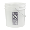 White 4-1/2 Gallon SmartPak® Medium Duty HDPE Bucket