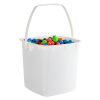 80 oz. White HDPE Deli Tub with Handle (Lid sold separetely)