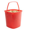 160 oz. Red HDPE Deli Tub with Handle (Lid sold separetely)